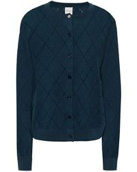 Paul Smith - Pointelle-knit Organic Cotton Cardigan Storm Blue - Lyst