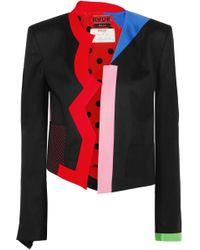 Ronald Van Der Kemp - Memphis Color-block Wool Jacket - Lyst