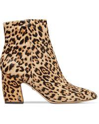 Sam Edelman Hilty Leopard-print Calf Hair Ankle Boots Animal Print - Brown