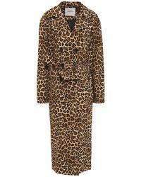 Ba&sh Fauve Leopard-print Cotton Trench Coat - Multicolour