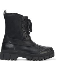 Rag & Bone Rb Winter Shearling-lined Leather And Rubber Ankle Boots Black