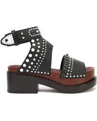 3.1 Phillip Lim - Nashville Studded Leather Platform Sandals - Lyst