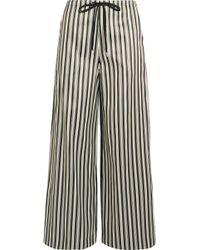 McQ - Striped Twill Wide-leg Pants - Lyst