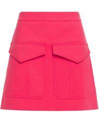 Boutique Moschino Cotton-blend Matelassé Mini Skirt Bright Pink