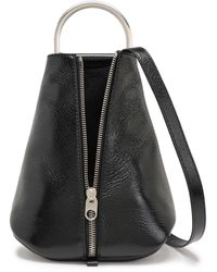 Proenza Schouler Textured Patent-leather Backpack Black