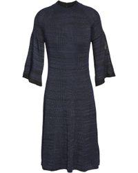 28767b3662257 pringle-of-scotland-Midnight-blue-Woman-Stretch-knit-Dress-Midnight-Blue -Size-S.jpeg