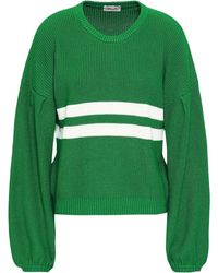 Baum und Pferdgarten Intarsia Cotton-blend Sweater Green