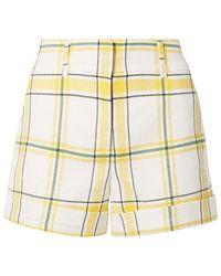 Veronica Beard Carito Checked Tweed Shorts - Weiß