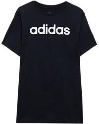 adidas Logo-print Cotton-jersey T-shirt - Black
