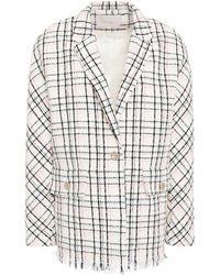 Maje Vianey Checked Cotton-blend Bouclé-tweed Blazer - Multicolour