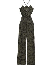 Just Cavalli - Printed Crepe Jumpsuit - Lyst