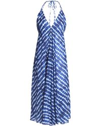 Tory Burch - Tie-dyed Cotton-jersey Halterneck Coverup - Lyst