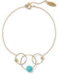 Zimmermann 9-karat Gold-plated Turquoise Bracelet Gold - Metallic
