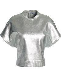 Paco Rabanne - Metallic Coated Wool-blend Top - Lyst