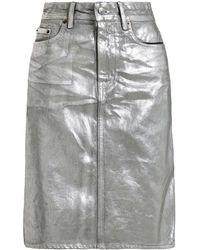 Acne Studios Metallic Coated Denim Skirt