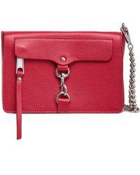 Rebecca Minkoff M.a.b. Mini Pebbled-leather Shoulder Bag Crimson - Red