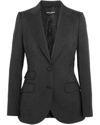 Dolce & Gabbana - Polka-dot Wool Blazer - Lyst