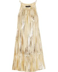 Vanessa Seward Silk-blend Lamé Mini Dress - Metallic