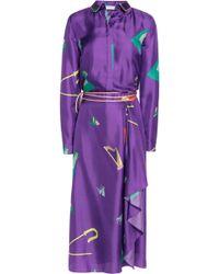 Vionnet - Printed Silk Wrap Maxi Dress - Lyst
