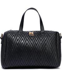 M Missoni Quilted Faux Leather Shoulder Bag Black