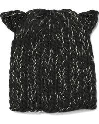Eugenia Kim - Felix Metallic Cable-knit Wool-blend Beanie - Lyst