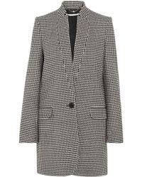 Stella McCartney - Houndstooth Wool Coat - Lyst