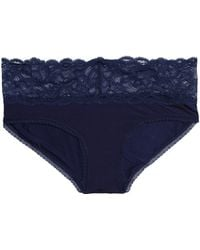 CALVIN KLEIN 205W39NYC Lace-trimmed Jersey Mid-rise Briefs - Blue