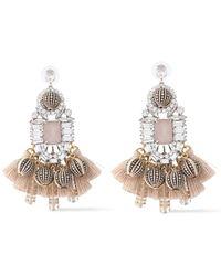Elizabeth Cole The Olette Silver-tone, Swarovski Crystal, Bead And Tassel Earrings Silver - Metallic