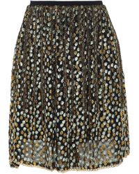 Elie Tahari - Chain-trimmed Fringed Metallic Fil Coupé Organza Mini Skirt - Lyst