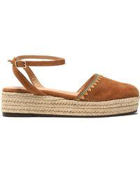 Castaner - Elena Embroidered Suede Espadrille Platform Sandals - Lyst