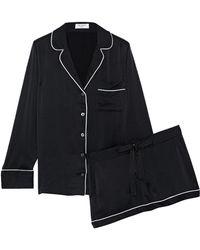 fb9bec5f82 Equipment - Woman Lillian Washed-silk Pajama Set Black - Lyst
