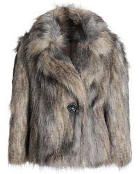 Jenny Packham - Faux Fur Coat - Lyst