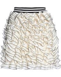 Alexander McQueen - Ruffled Crochet-knit Mini Skirt - Lyst