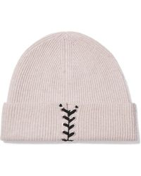 Autumn Cashmere - Embellished Ribbed Cashmere Beanie - Lyst