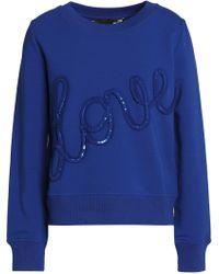 Love Moschino - Sequin-appliquéd Cotton-terry Sweatshirt - Lyst