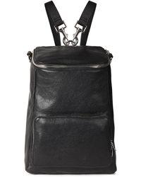 McQ Convertible Medium Pebbled-leather Backpack Black