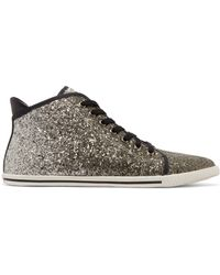 Marc By Marc Jacobs Woman Glittered Canvas Sneakers Black Size 41 Marc Jacobs 7xZdoUcfM