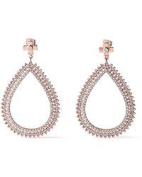 Luv Aj - Cosmic Rose Gold-tone Crystal Earrings - Lyst