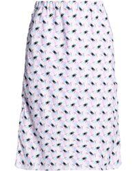 Marni - Printed Cotton-poplin Skirt - Lyst