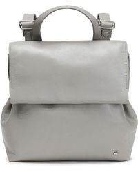 Halston - Glossed-leather Backpack - Lyst
