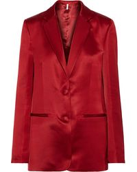 Helmut Lang Heavy Satin Tailored Blazer
