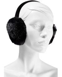 Surell - Velvet And Faux Fur Earmuffs - Lyst