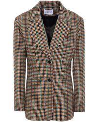 Claudie Pierlot Houndstooth Tweed Blazer - Natural