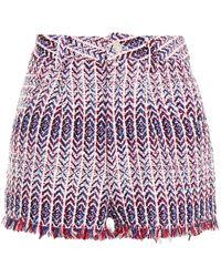 IRO Nonza Sequin-embellished Metallic Tweed Shorts - Multicolour