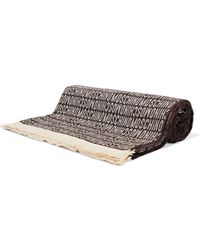Moschino - Fringed Wool-jacquard Scarf - Lyst