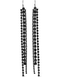 Chan Luu Sterling Silver Crystal Earrings Gunmetal - Metallic