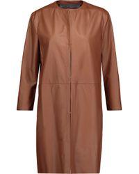 DROMe - Leather Coat - Lyst