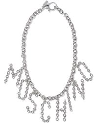 Moschino - Woman Silver-tone Necklace Silver - Lyst