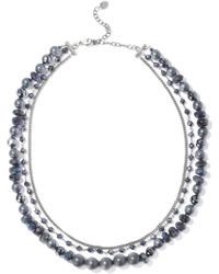 Chan Luu - Silver-tone Beaded Necklace - Lyst