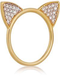 Aamaya By Priyanka - Cat Ears Gold-plated Topaz Ring - Lyst